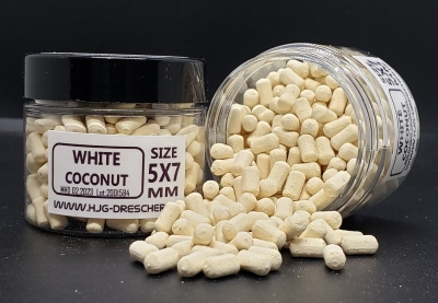 Dumbell Wafter 5 x 7 mm WHITE COCONUT